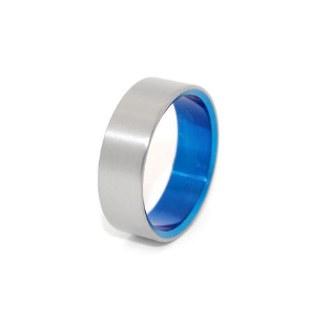 Glass Bead Blast // Blue