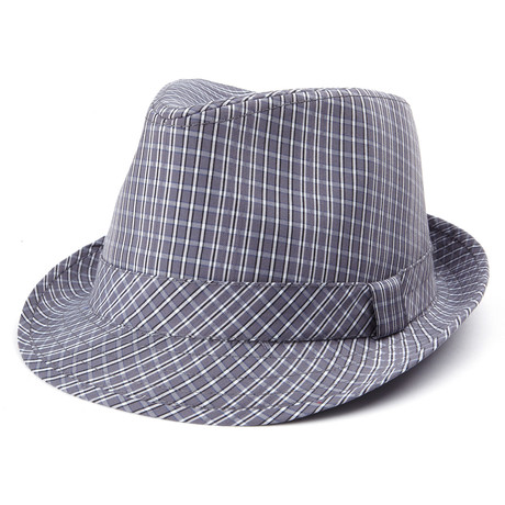 Cotton Trilby // Grey Plaid