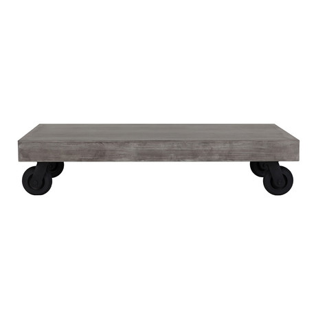 Concrete Coffee Table with 4 Wheels