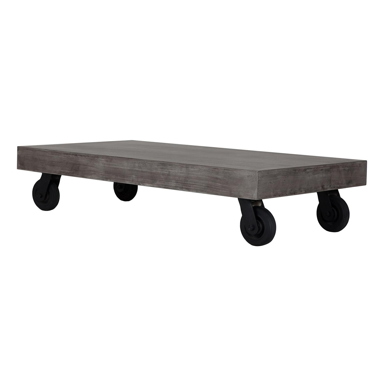 vega coffee table on wheels