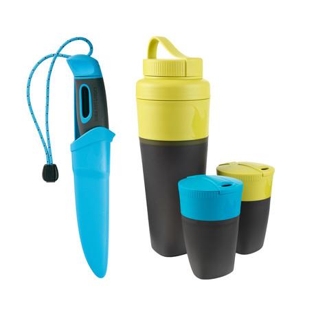Swedish FireKnife + Pack-Up Drink Kit // Blue