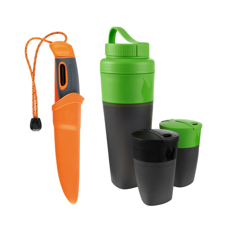 Swedish FireKnife + Pack-Up Drink Kit // Orange