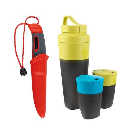 Swedish FireKnife + Pack-Up Drink Kit // Red