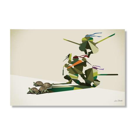 """Walking Shadow, Turtles (24""""W x 16""""H x .045""""D // Aluminum Print)"""