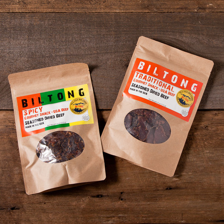 The Middle of the Road Bundle // 2 Spicy Biltong + 2 Traditional Biltong