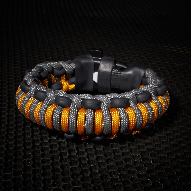 Mountaineer Survival Kit Bracelet Goldenrod 6 5 L Small
