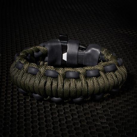Mountaineer Survival Kit Bracelet // Olive Drab
