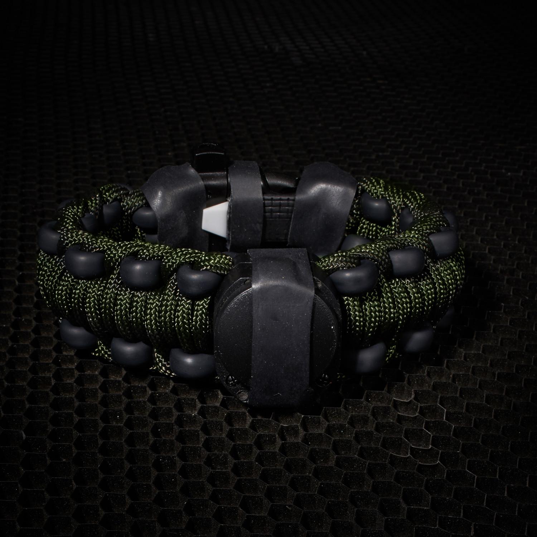 Adventure Paracord Survival Bracelet Olive Drab 7 5 L