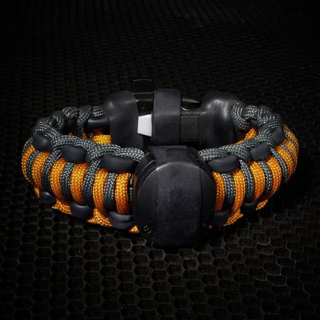 adventure paracord survival bracelet goldenrod 6 5 quot l