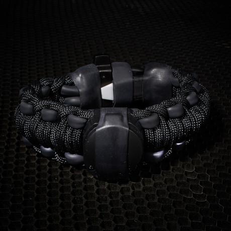 Adventure Paracord Survival Bracelet Black 6 5 L Small Wazoo Gear Touch Of Modern