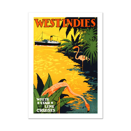 White Star Lines + West Indies // Hand-Pulled Lithograph