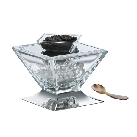 Lugano Medium Caviar Service + Spoon