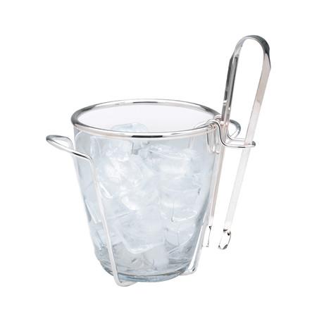 Varallo Silver Ice Bucket + Tongs