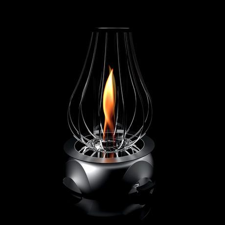 Biobrandstoffen tafelblad Fire Pit // Midnight Black