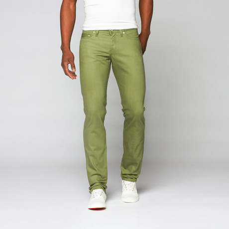 Naked 0026 amp; Famous // Weird Guy Selvedge Chino // Leaf Green