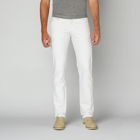 Naked 0026 amp; Famous // Weird Guy Selvedge Chino // Optic White