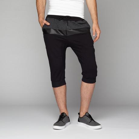 Color Block Short // Black + Grey