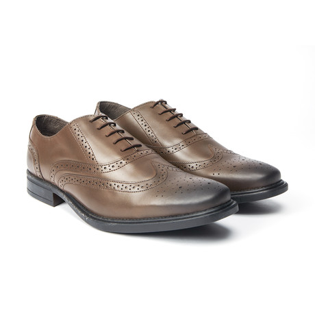 Neville Burnished Wingtip Oxford // Brown (UK: 8)