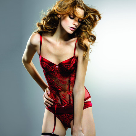 Lace Padded Push Up Bustier