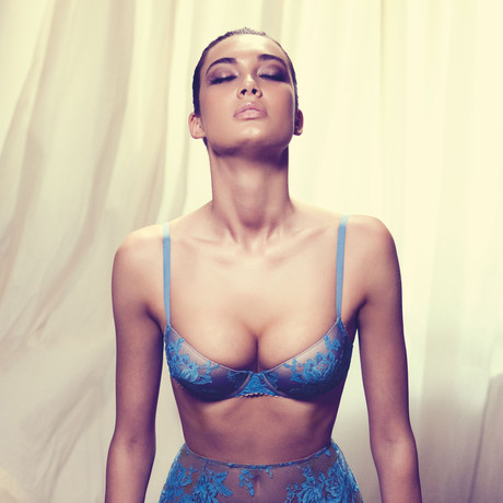 Floral Padded Push Up Bra // Turquoise