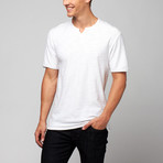 Slub V-Notch Tee // White (L)
