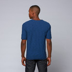 End on End Snap-Neck Henley // Blue (XL)
