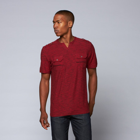 End on End V-Notch Tee // Brick Red (S)