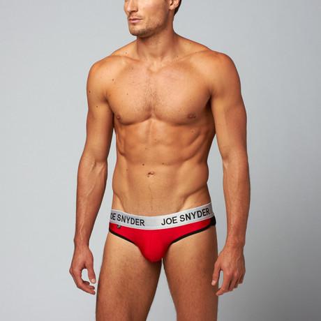 Active Wear Briefs // Red (S)