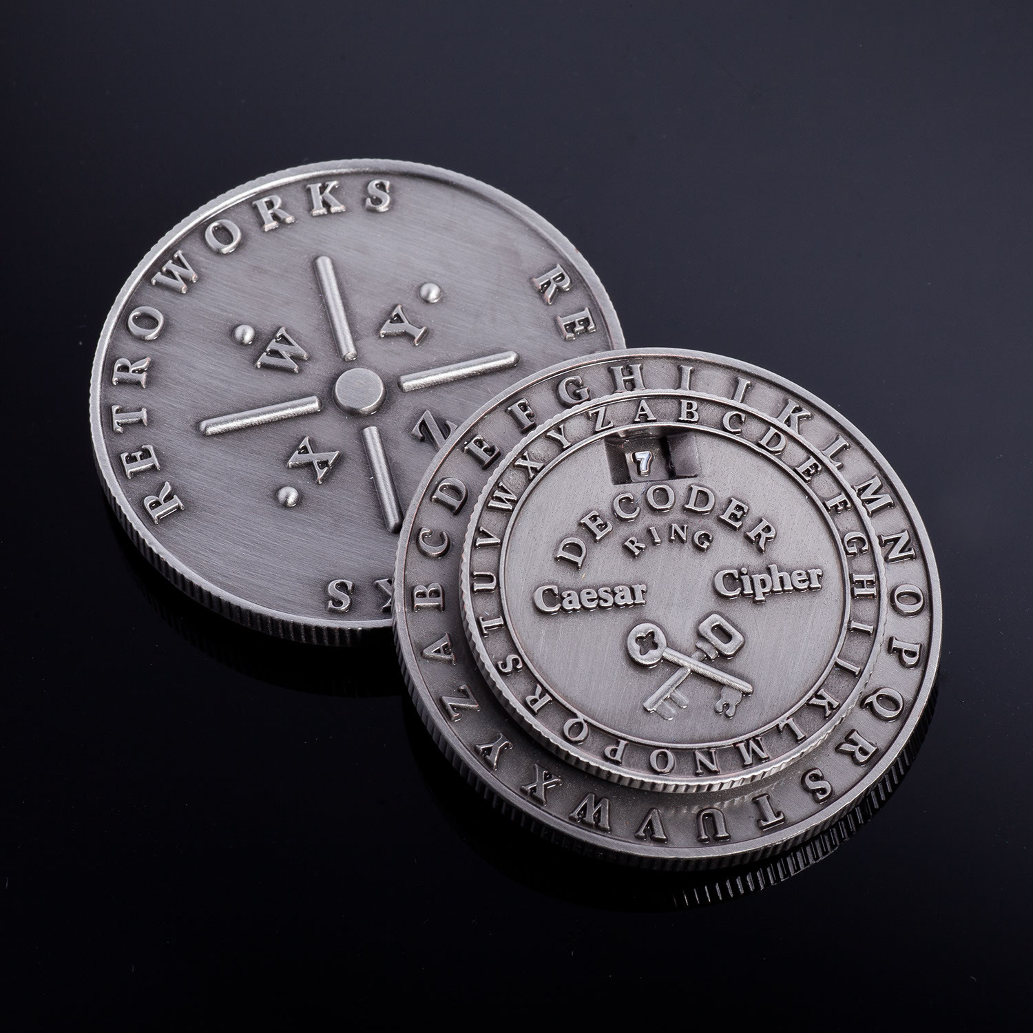 Caesar Cipher Medallion // Set of 2 - Retroworks - Touch of