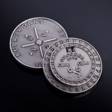 Caesar Cipher Medallion // Set of 2