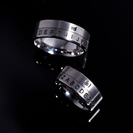 Secret Window Decoder Ring // Set of 2 (Size 10)