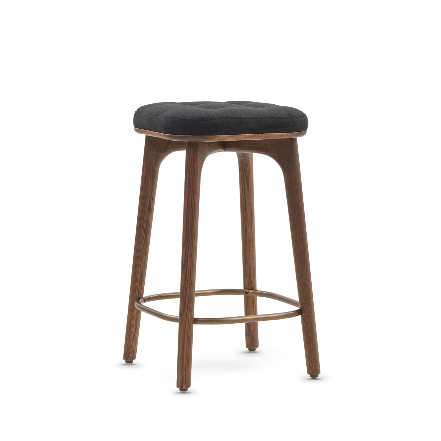 Utility Bar Stool Black Fabric Small Stellar Works