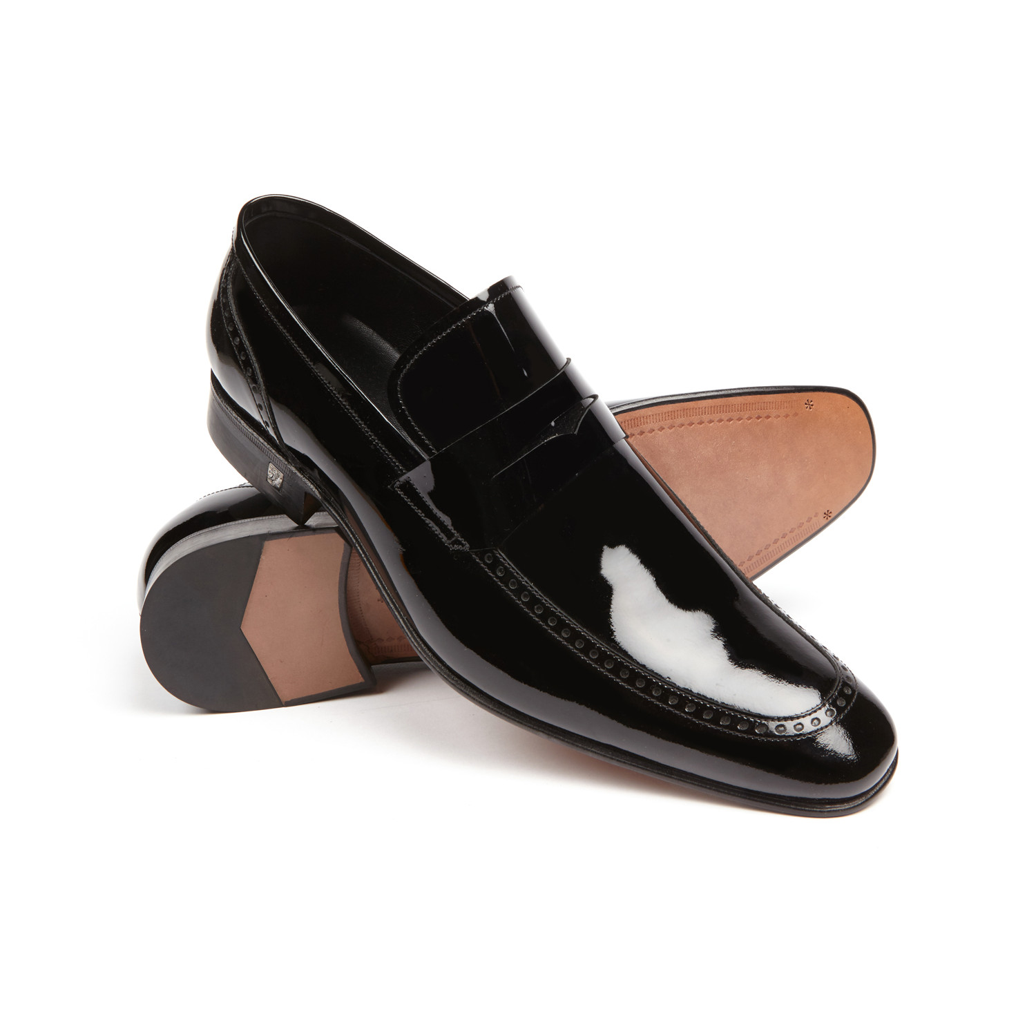 VERSACE COLLECTION Leather Penny Loafer zKNFzR