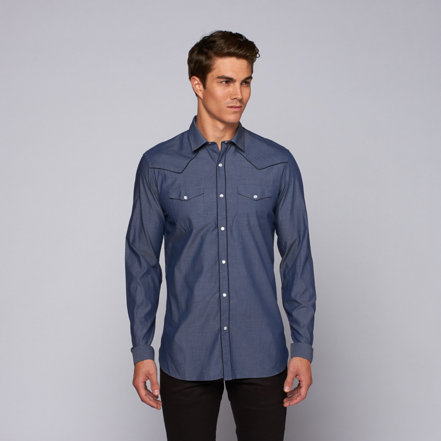 the kooples classic chemise homme blue s the kooples touch of modern. Black Bedroom Furniture Sets. Home Design Ideas