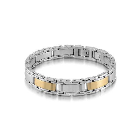 Stainless Steel Link Bracelet // Gold Plated (XS)