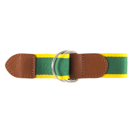 Renaldo Ribbon Belt // Green + Yellow