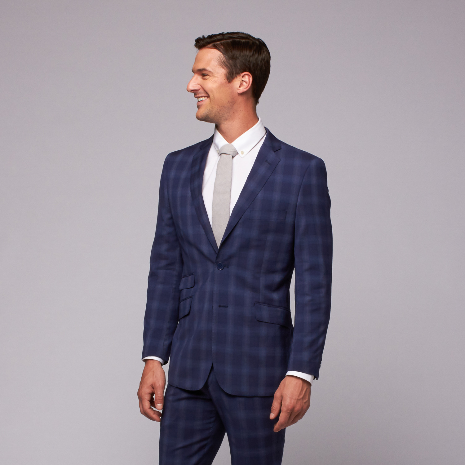 Classic Plaid Suit // French Blue (US: 36R) - English Laundry ...