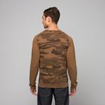 Splendid Mills // Crewneck Print Sweatshirt // Camo (L)