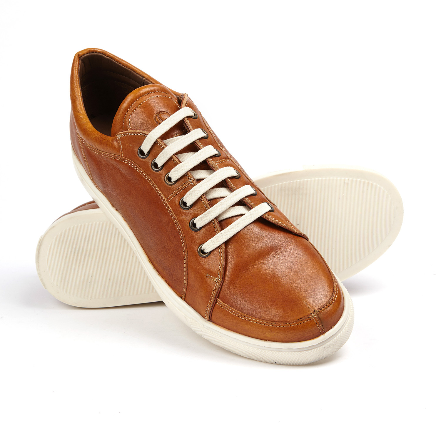 Greyson Leather Sneakers // Tan (US: 10