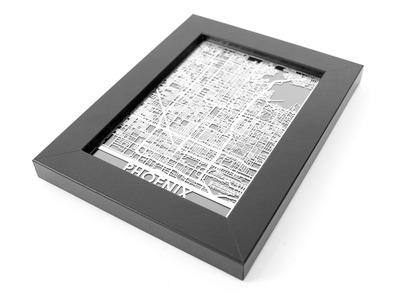 Photo of Cut Maps Stainless Steel Cities Phoenix by Touch Of Modern