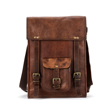 "Backpack Satchel // Vertical (10""L x 13""W x 4""H)"