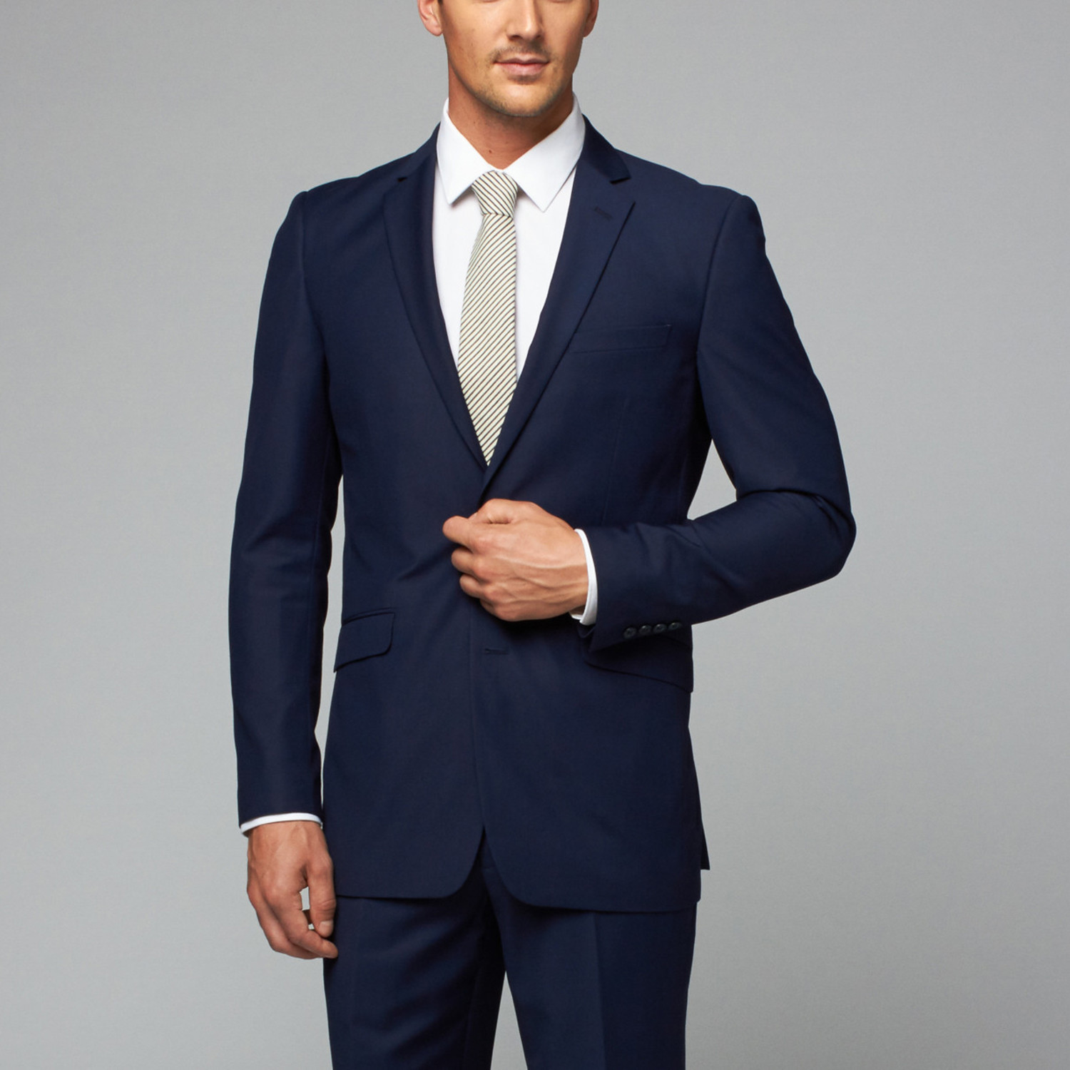 Renoir // 2 Piece Suit Classic Fit Peak // Navy Blue (US: 36R ...