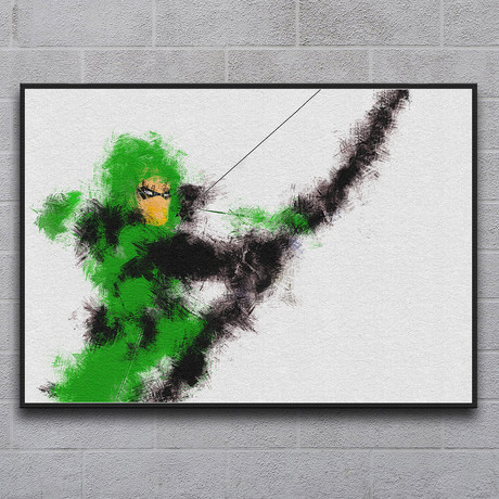 "The Arrow of Green Justice (11.7""L x 16.5""H)"