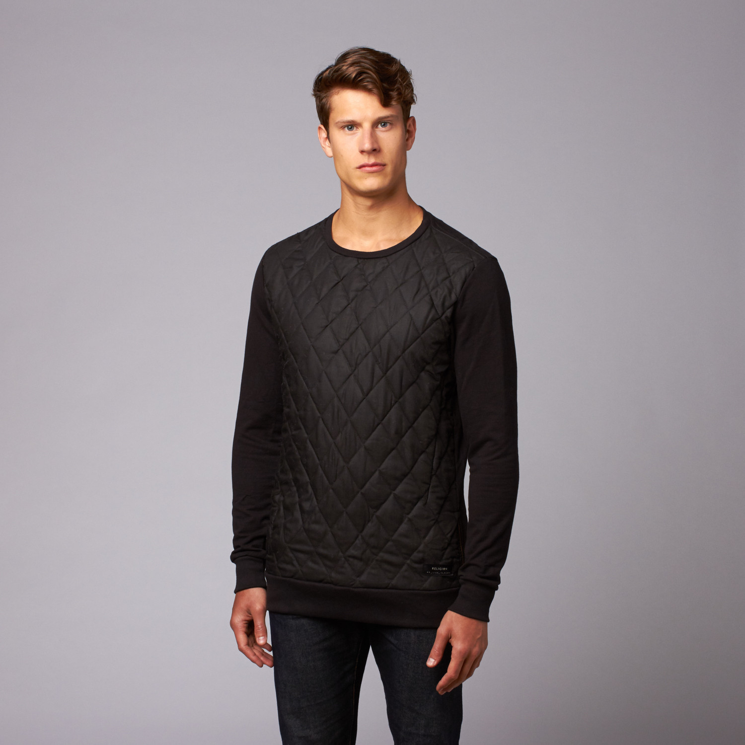 6aa2477b21a Movement Quilted Front Tunic Pullover // Jet Black (S) - Religion ...