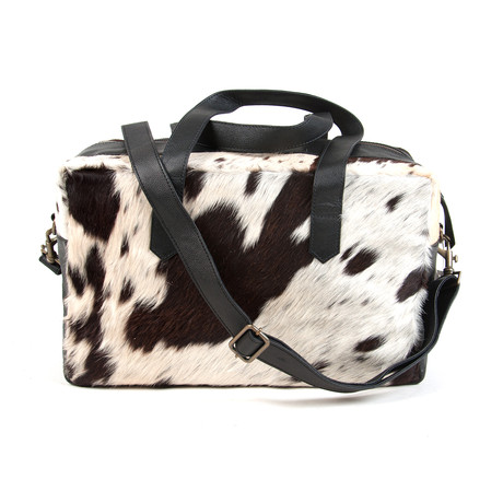 Hugo Cowhide Leather Overnight Bag