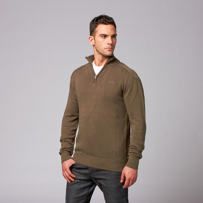 hotchkiss sweater m 65 olive s alpha industries. Black Bedroom Furniture Sets. Home Design Ideas