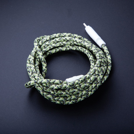 Lightning Cable // Green Camo