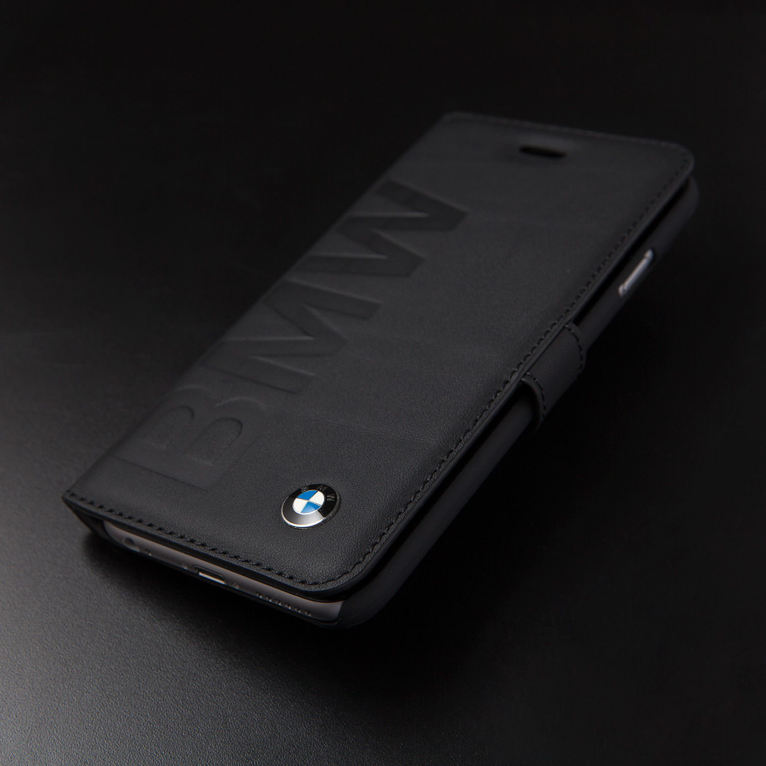 Leather Booktype Case Debossed Bmw Logo Iphone 6 Clearance