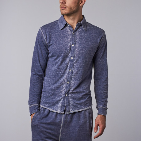 Long-Sleeve Button-Down // Indigo (S)