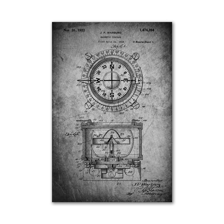 Magnetic Compass Sheet Metal Unframed 18 Quot X 24